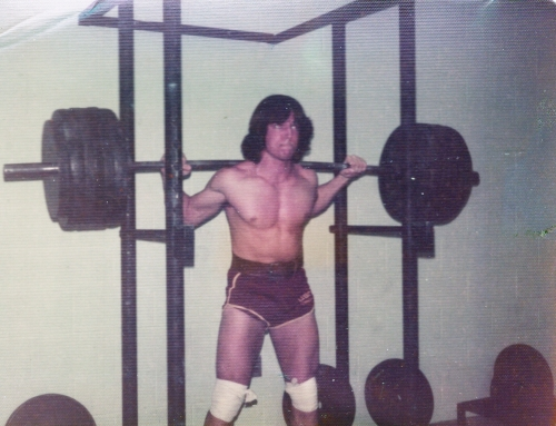 Paul partial squats with 575 at Purdue